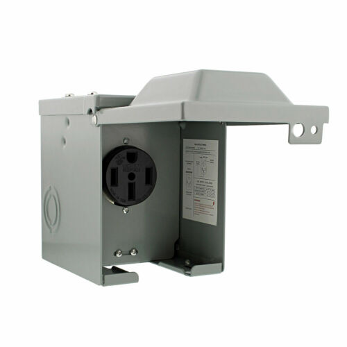 RV Breaker Box - RV Electrical Outlet RV Receptacle 50 Amp RV Outlet Box