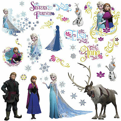DISNEY FROZEN Movie Wall Decals OLAF ELSA ANNA New 36 Bedroom Sticker Room Decor](Elsa Stickers)