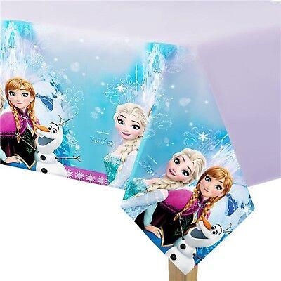 Mädchen Geburtstagsfeier Disney Frozen Anna Elsa Dekoration Geschirr Tischdecke ()