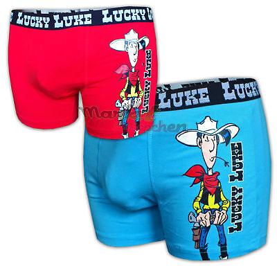 2 x Lucky Luke original Boxershorts enge Pants Unterhose Unterwäsche coole Short Original Boxer Pant