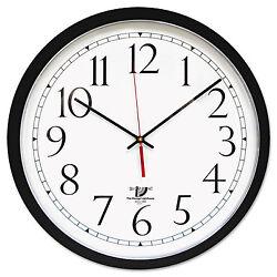 Chicago Lighthouse SelfSet Wall Clock 16-1/2 Black 67400603