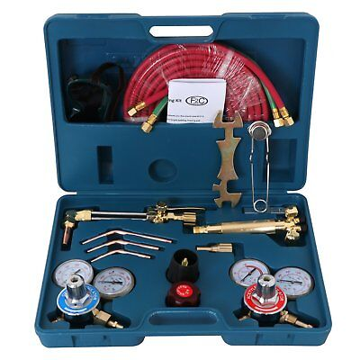 Portable Gas Welding Cutting Torch Kit W Hose Oxy Acetylene Brazing Pro. Set