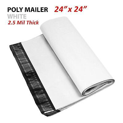 11000 Multi-pack 24x24 White Poly Mailers Shipping Envelopes Self Sealing Bags
