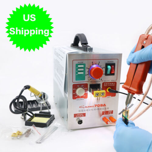SUNKKO 709A Pulse Spot Welder Welding Soldering Machine for Battery Packs 1.9kw