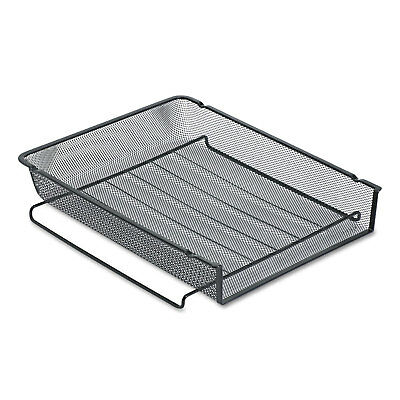Rolodex Mesh Stackable Front Load Letter Tray Wire Black 22211eld
