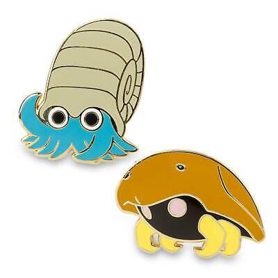 Pokemon Center Original Omanyte & Kabuto Anime Pins Collectible (2 Pack)