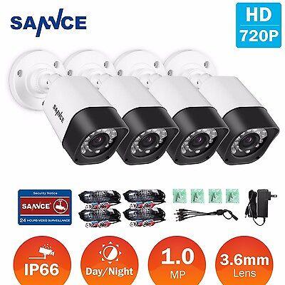 SANNCE 4x HD-TVI 720P Video 1500TVL CCTV Security IR Camera only Fit for TVI DVR