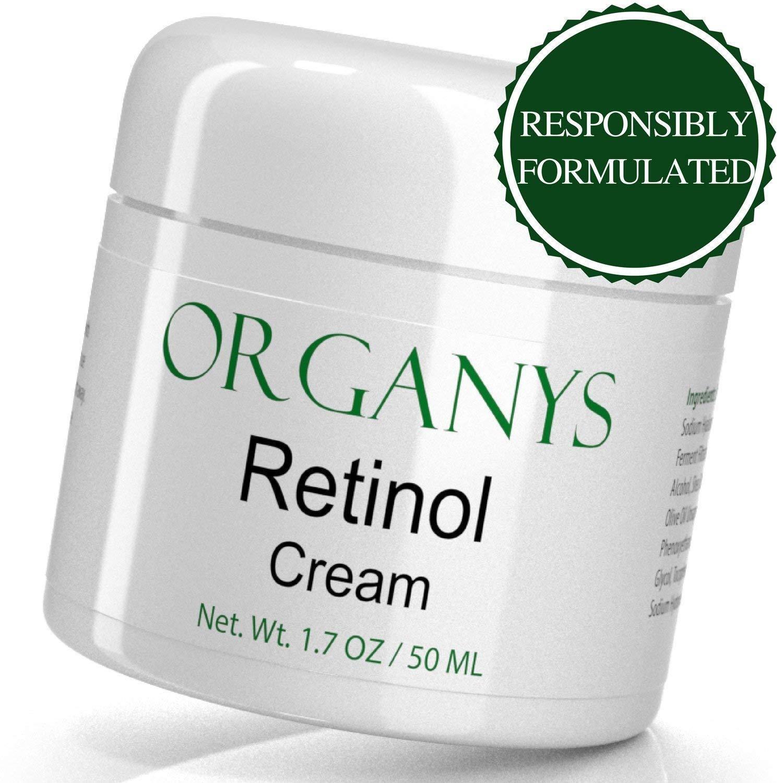 Organys Retinol Cream with Hyaluronic Acid. Anti Aging Wrink