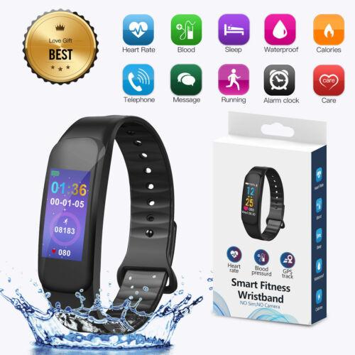 Smartwatch Bluetooth Armbanduhr Schrittzähler mit Pulsuhr Fitness Tracker C1Plus