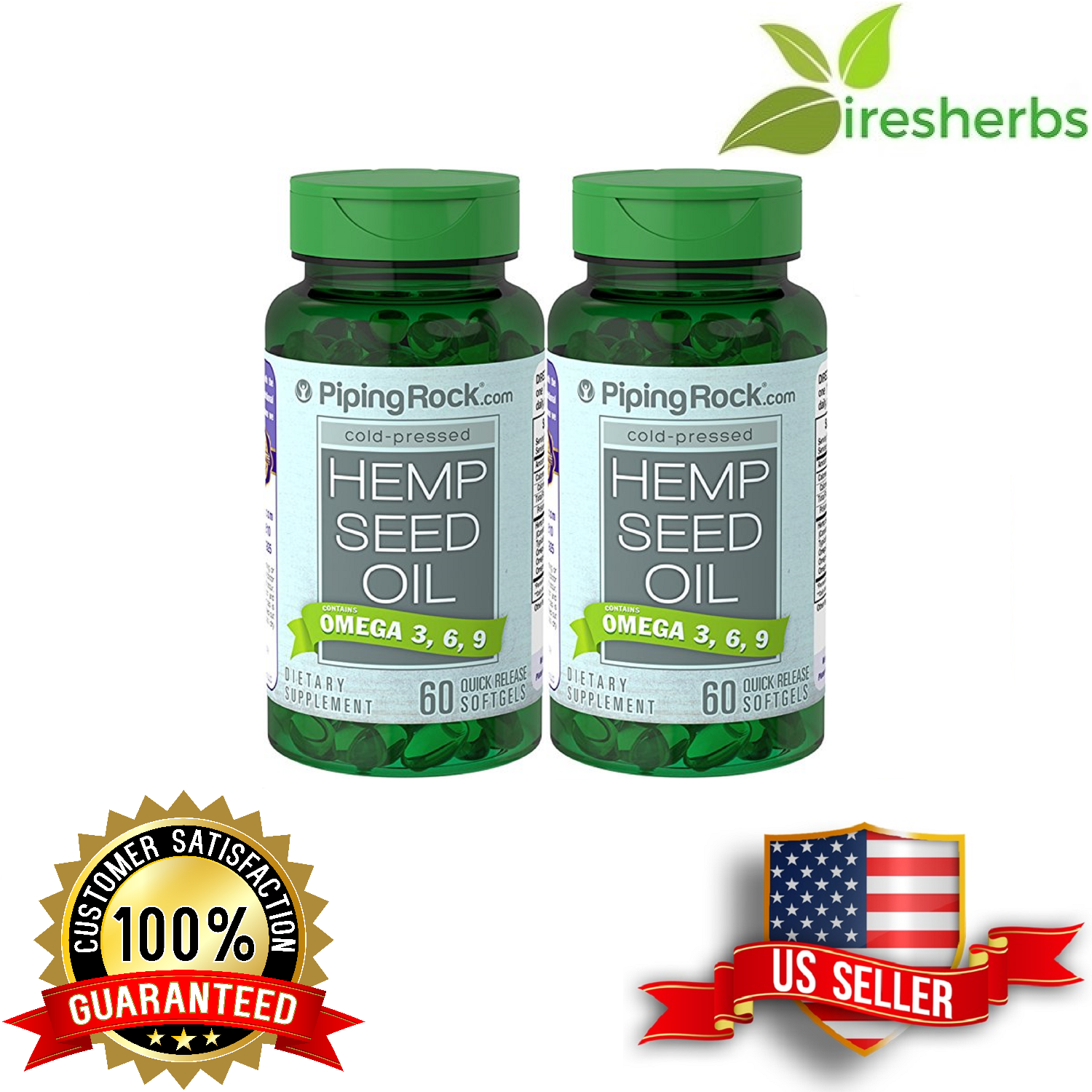 HEMP SEED OIL COLD PRESSED OMEGA 3-6-9 700mg DIET HEALTH SUPPLEMENT 120 SOFTGELS