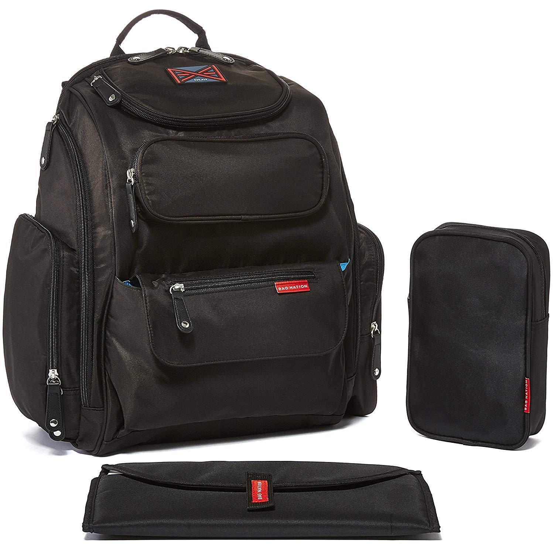 Bag Nation Diaper Bag Backpack W Stroller Straps - High-Qual