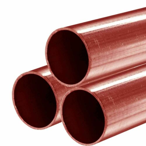15ft (3 - 5 ft. Pieces) Hard Copper Tube Pipe 0.625 (1/2 NPS) x 60 inches Type M