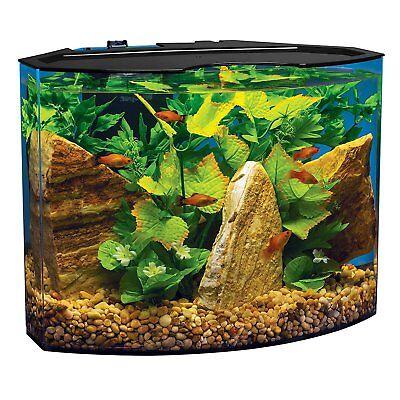 Small 5Gal Aquarium Kit Acrylic Illuminated Fish Tank LED Light Filter Cartridge