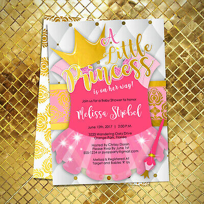 Royal Themed Baby Shower (Princess Baby Shower Invitations / Royal Princess Theme Baby Shower)