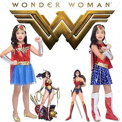 Wonder Woman Child Costume Superhero Justice League DC Halloween Party Outfit S