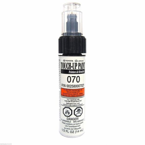 GENUINE TOYOTA TOUCH UP PAINT WITH BRUSH 070 BLIZZARD PEARL OEM NEW