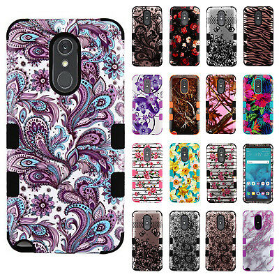 For LG Stylo 4 IMPACT TUFF HYBRID Protector Hard Case Skin Phone Cover (Skin Phone Protector Cover)