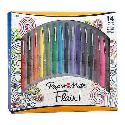Paper Mate Flair Porous Point Pens Medium Point Assorted Colors Pack Of 14