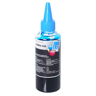 Light Cyan Edible Ink Refill Bottle 3.38 oz (100ml) Compatible for Canon -