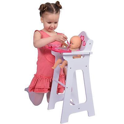 "Doll High Chair Bib Fits 18 "" Dolls Kids Toddler Toy Girls Pretend Play New"