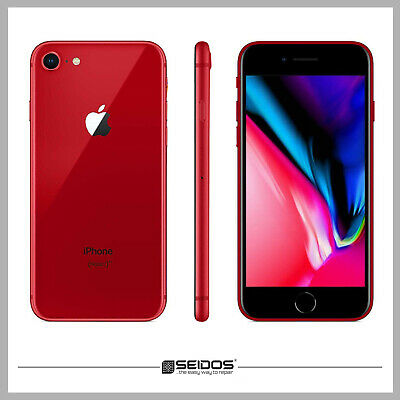 APPLE IPHONE 8 64GB ROT / RED ( OHNE VERTRAG ) TOP HANDY SMARTPHONE - WIE NEU !
