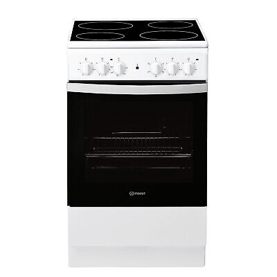 Indesit Freestanding IS5V4KHW 50cm Electric Cooker A Rated - White