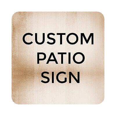 Custom Printed Pool Patio Sign Plaque Metal Outdoor Beach Pool Party Decor