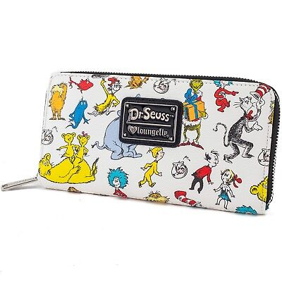 Loungefly Dr Seuss Cat in the Hat Lorax Character Zip Around Wallet DSSWA0002 - Lorax Characters