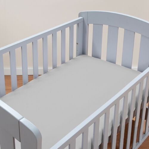 "Organic Jersey Cotton Crib Sheets for Standard Crib Ultra Soft Covers 52""x28"""
