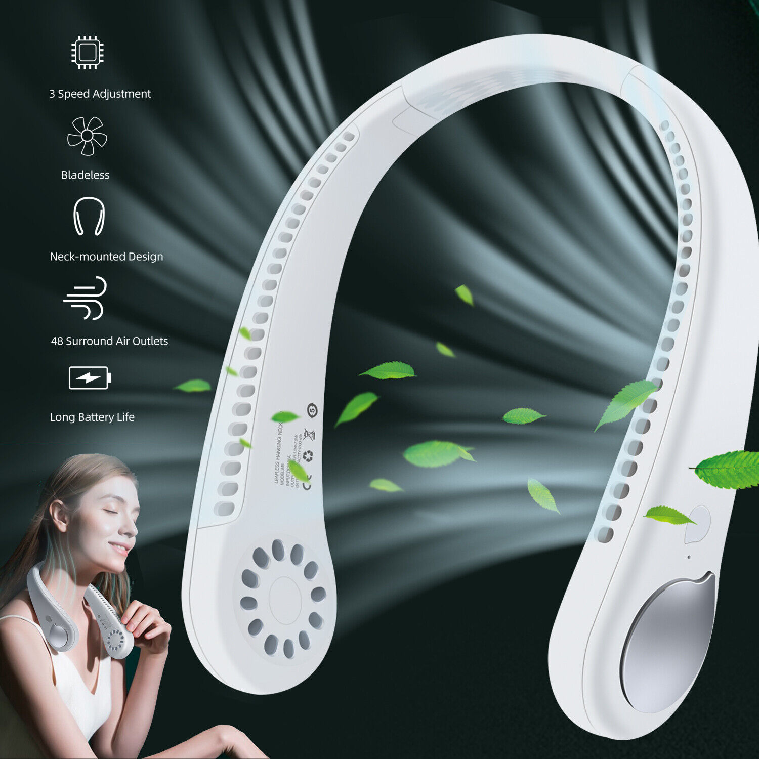 USB Portable Hanging Neck Fan Cooling Air Cooler Little Electric Air Conditioner Heating, Cooling & Air