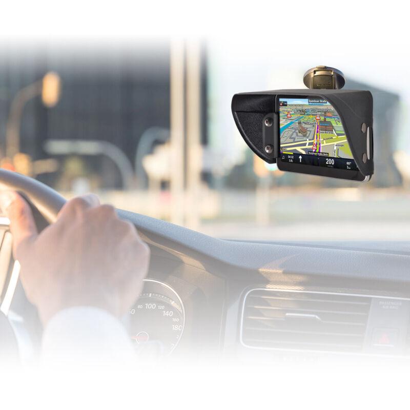 TFY PU Leather Garmin Nüvi Mount Sunshade & Glare Visor for GPS Navigator 7 Inch