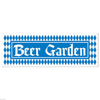 Beer Garden Banner Jumbo Sign Oktoberfest Party Yard Art Bavaria German Festival
