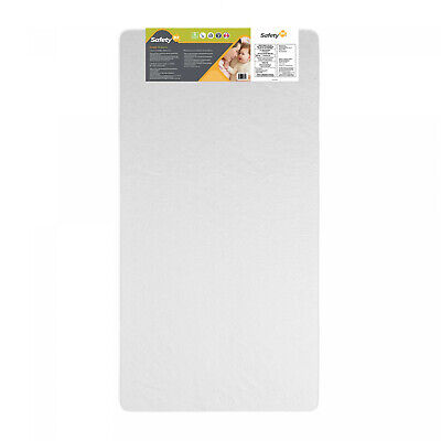 BABY TODDLER CRIB MATTRESS Waterproof Bed Thermo-Bonded Core Safety 1st White