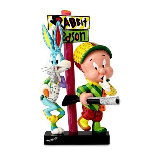 Looney Tunes Bugs Bunny and Elmer Fudd Figurine Designed By Romero Britto