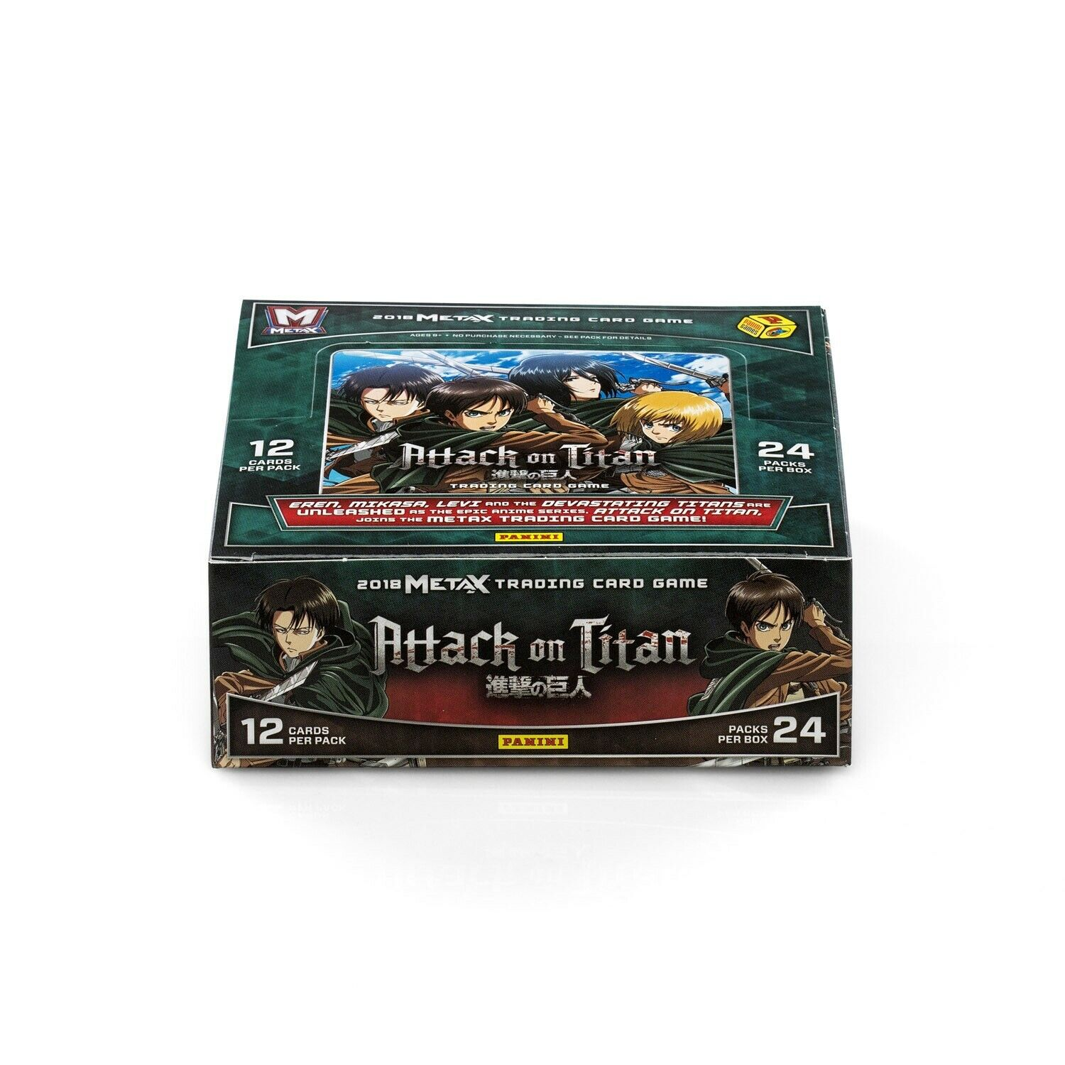 Ccg Sealed Booster Packs Meta X Attack On Titan Booster Box 24 Packs Panini Trading Card Game Metax Tcg Toys Hobbies Goothai Com