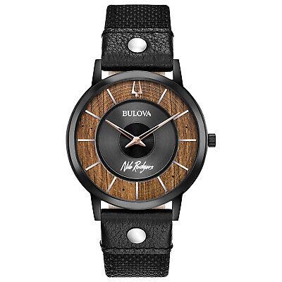 Bulova Nile Rogers Men's Quartz Special Edition Black 40mm Watch 98A222