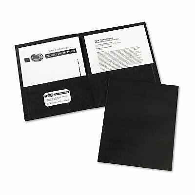 Avery Two-pocket Folder 40-sheet Capacity Black 25box 47988