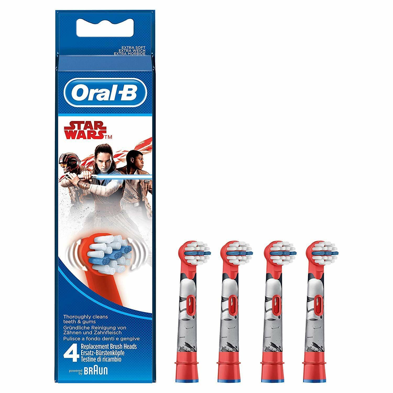 Oral-B Kids Star Wars Aufsteckbürsten elektrische Kinderzahnbürste 4er Pack