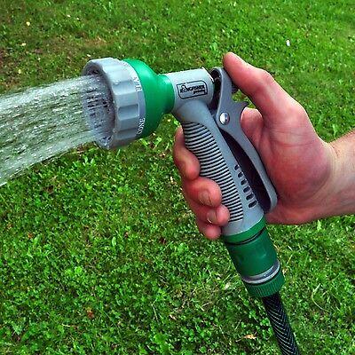 6 Dial Spray Gun Multi Pattern Garden Hose Pipe Water Sprayer Soft Grip Handle