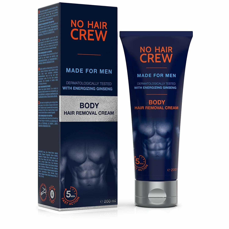 NO HAIR CREW Premium Enthaarungscreme für den ganzen Körper Männer Enthaarung