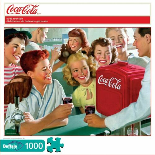 Buffalo Games 1000 Piece Puzzle Coca-Cola: Soda Fountain