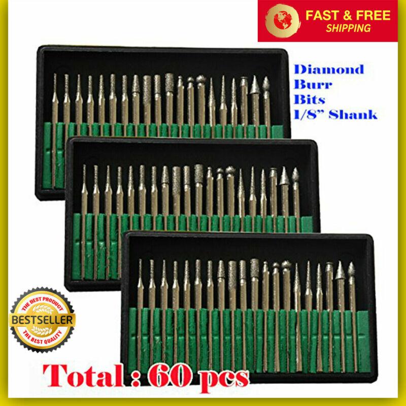60 pcs diamond burr bits drill set