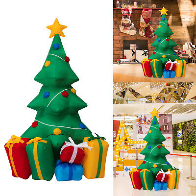5' Inflatable Christmas Tree LED Air Blown Yard Xmas Party Outdoor Decoration