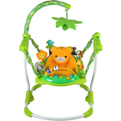 Kids Safari Jumper Toddler Exerciser Seat Fun Safe Play Baby Walker Bouncer Toy