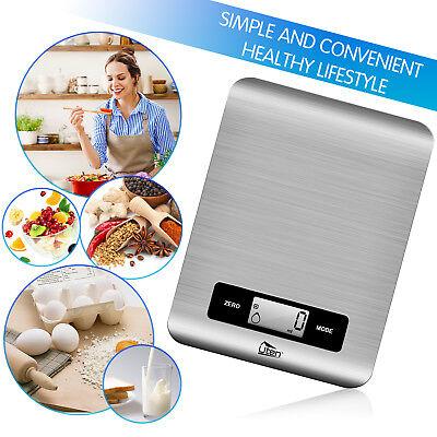 Uten Digital Küchenwaage Haushaltswaage Briefwaage Digitalwaage Edelstahl 5kg/1g