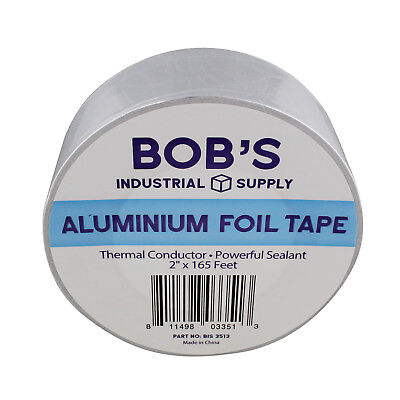 Bisupply Aluminum Foil Tape 2 Inch - Pipe Insulation Thermal Tape 165 Ft