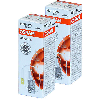 H3 OSRAM Original Line Ersatz Scheinwerfer Lampe DUO-Box NEU