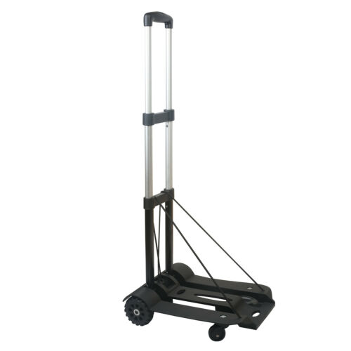 165lbs Dolly Push Hand Cart Folding Truck Collapsible Trolley Luggage Aluminium