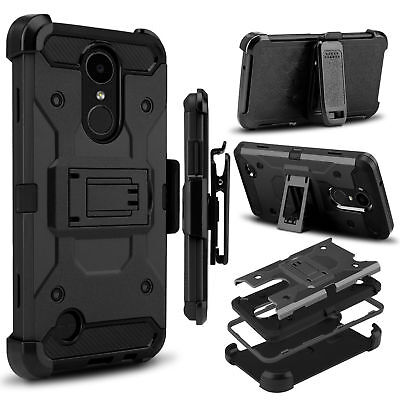 Black Hard Case Screen (For Coolpad Legacy BLACK Hybrid Armor Rugged Hard Case Cover Clip Holster Screen )