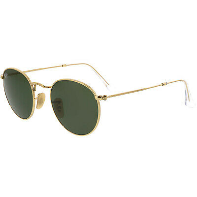 Ray-Ban ROUND METAL - MATTE GUNMETAL Frame BROWN MIRROR GOLD
